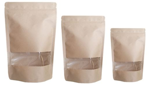 Different sizes of plain pouch