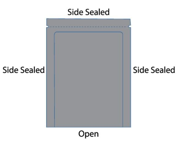 3 Side seal pouch