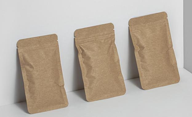 kraft flat pouches