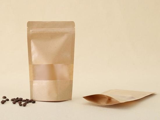 bottom gusseted kraft paper pouch