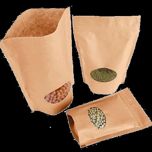 laminated bottom-gusseted pouch