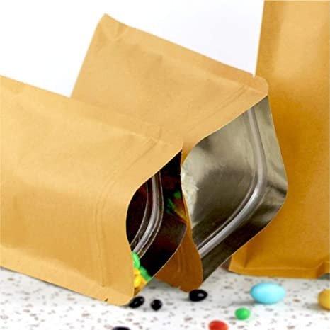 kraft paper pouches with aluminum foil